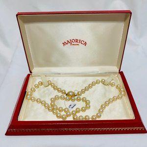 "Vintage Majorica Pearls - 24"" Strand w/Box"